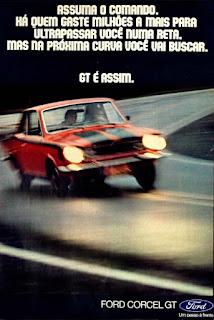 propaganda Ford Corcel GT - 1973, Ford Willys anos 70, carro antigo Ford, década de 70, anos 70, Oswaldo Hernandez,