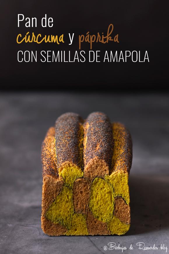 Pan de cúrcuma y páprika con semillas de amapola