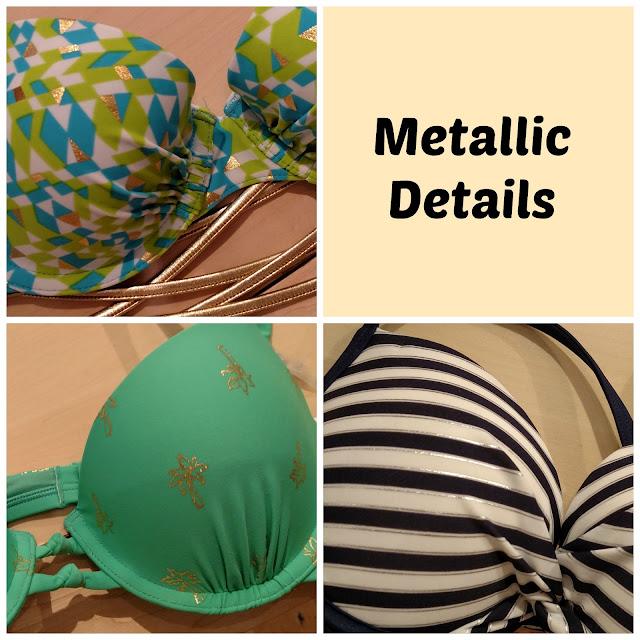 metallic bikinis