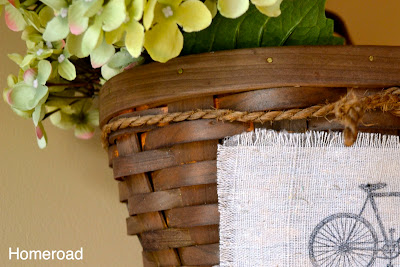Upcycled Bicycle Basket