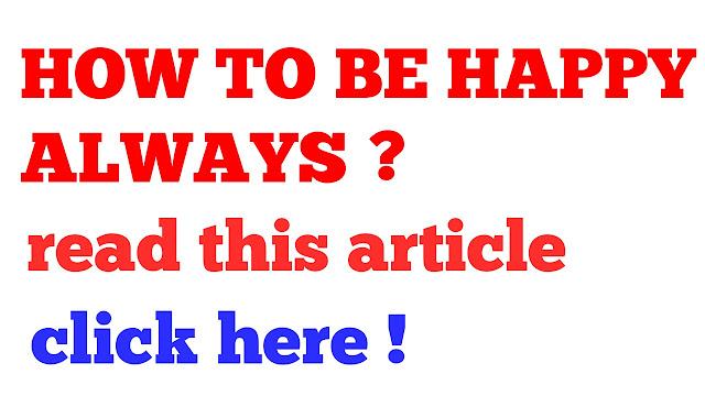 Image: how to be happy always ?