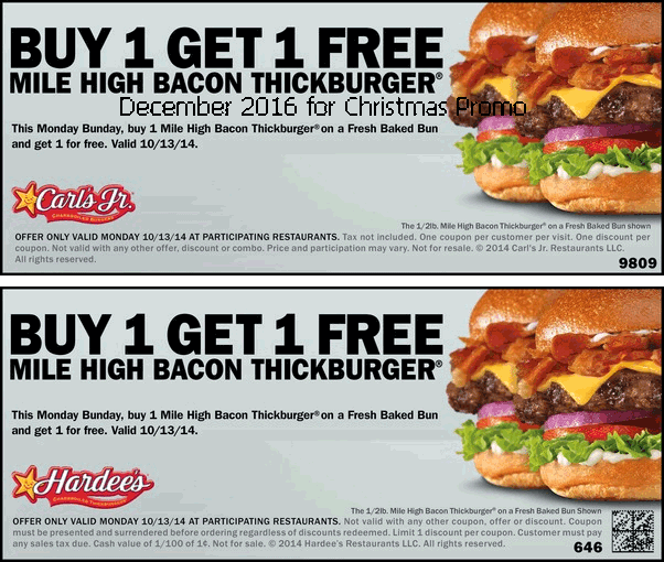 hardees coupons december