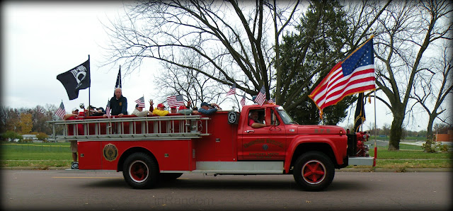 Old Fire Truck in Veterans Parade