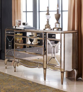 Divine Decor On A Dime Is Mirrored Furniture Here To Stay