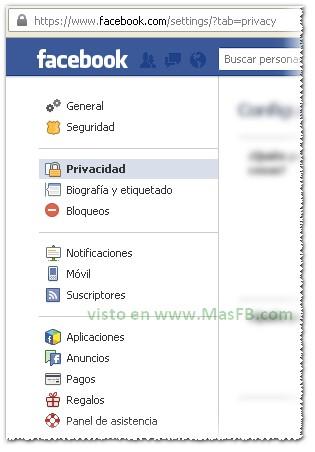 Privacidad Facebook 2012