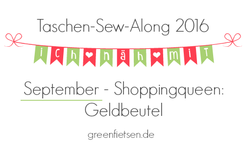 Taschen-Sew-Along 2016 | September - Geldbeutel
