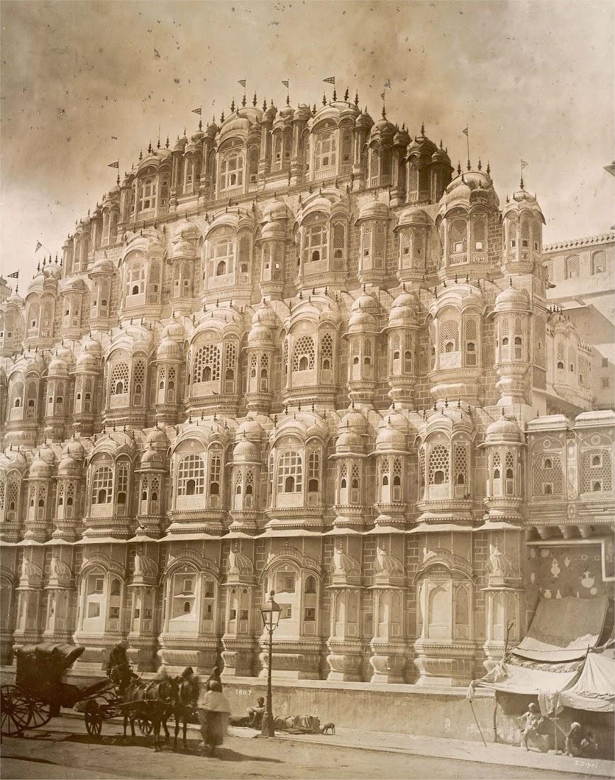 Hawa Mahal (Wind Palace) in Jaipur, Rajasthan c1895