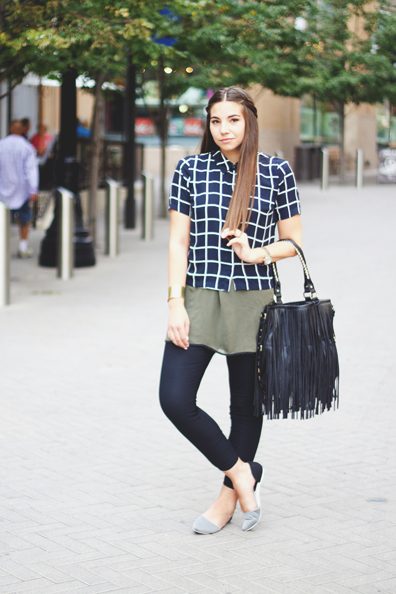utah fashion blogger, windowpane pattern shirt