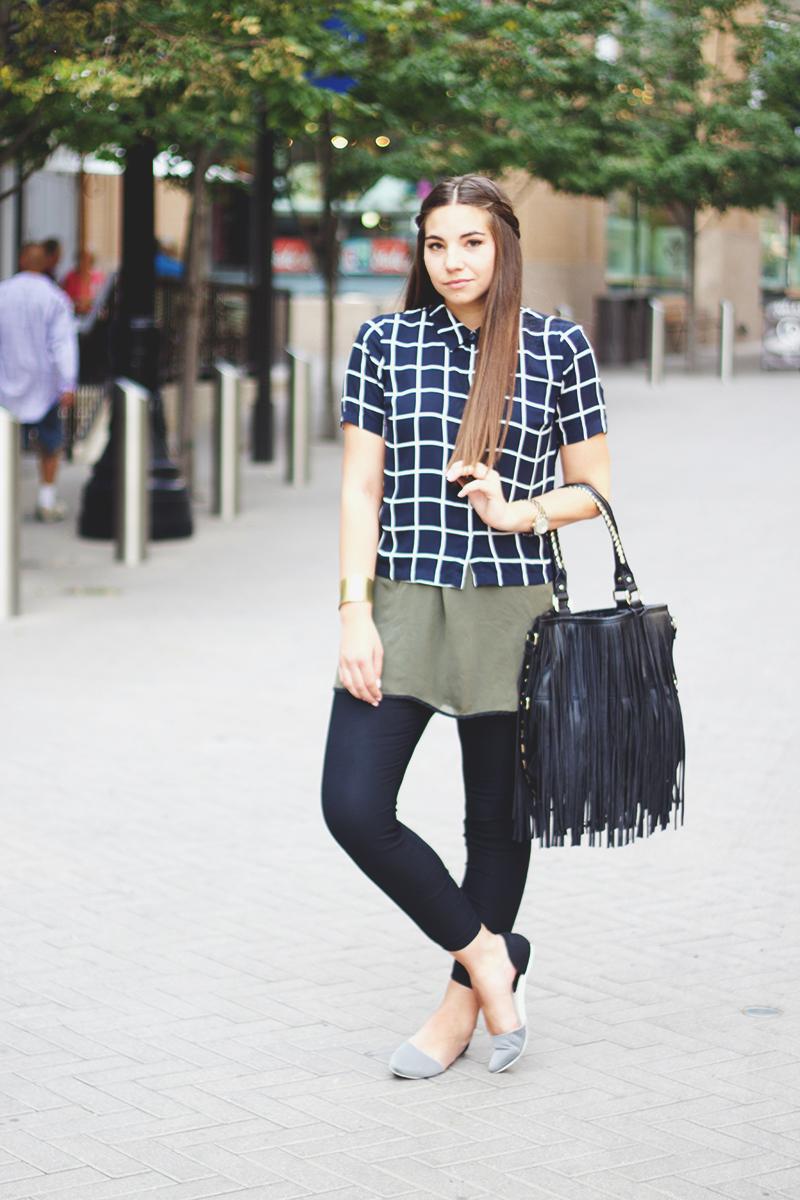 utah fashion blogger, windowpane pattern shirt