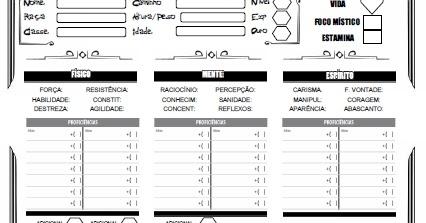 Ficha de Personagem para Alchemia RPG 2.0 ~ Taverna do