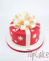 Juhakakku, joulu, lahja, joululahja, joululahjakakku , topcake, sokerimassa, koristeet, juhlakakku