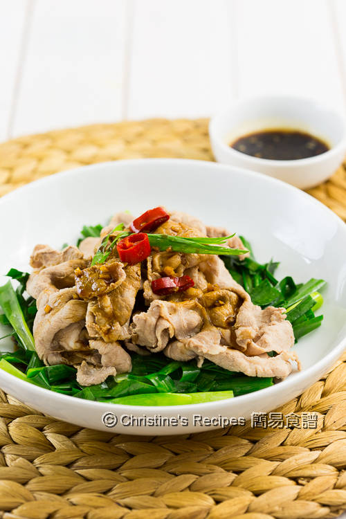 蒜泥醬肉片 Boiled Pork Slices with Garlic Sauce01