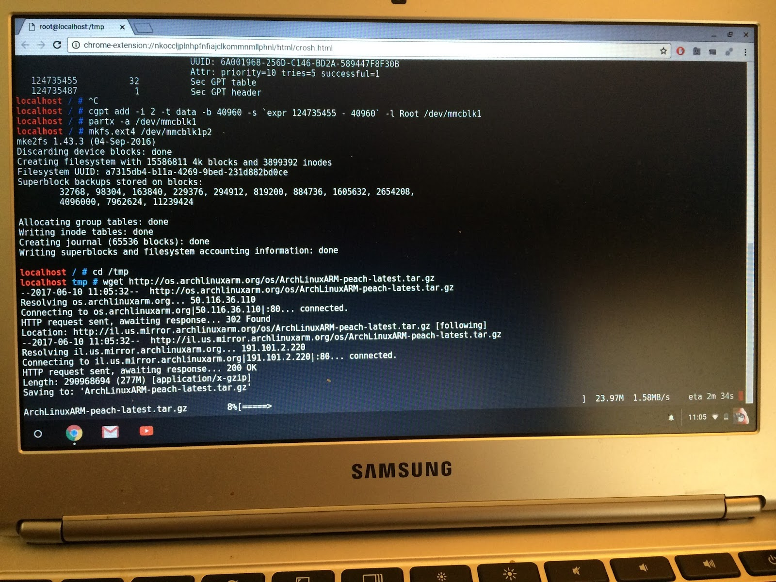 Converting a Chromebook to Linux