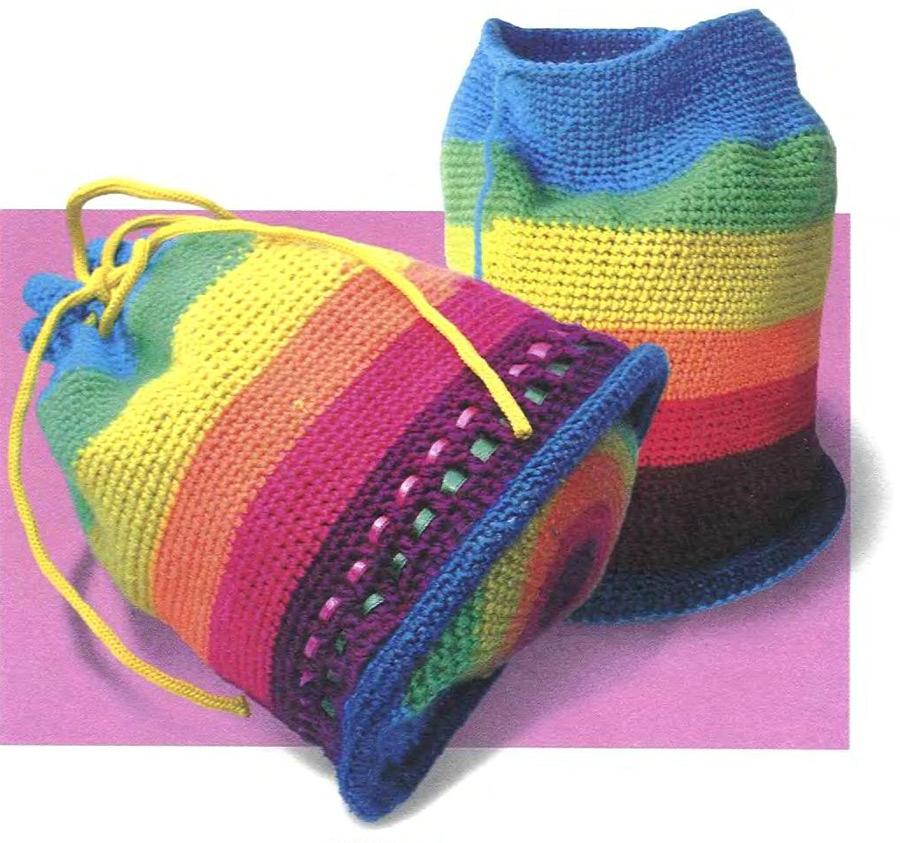 Цилиндрическая сумка. Cylindrical Rainbow Bag