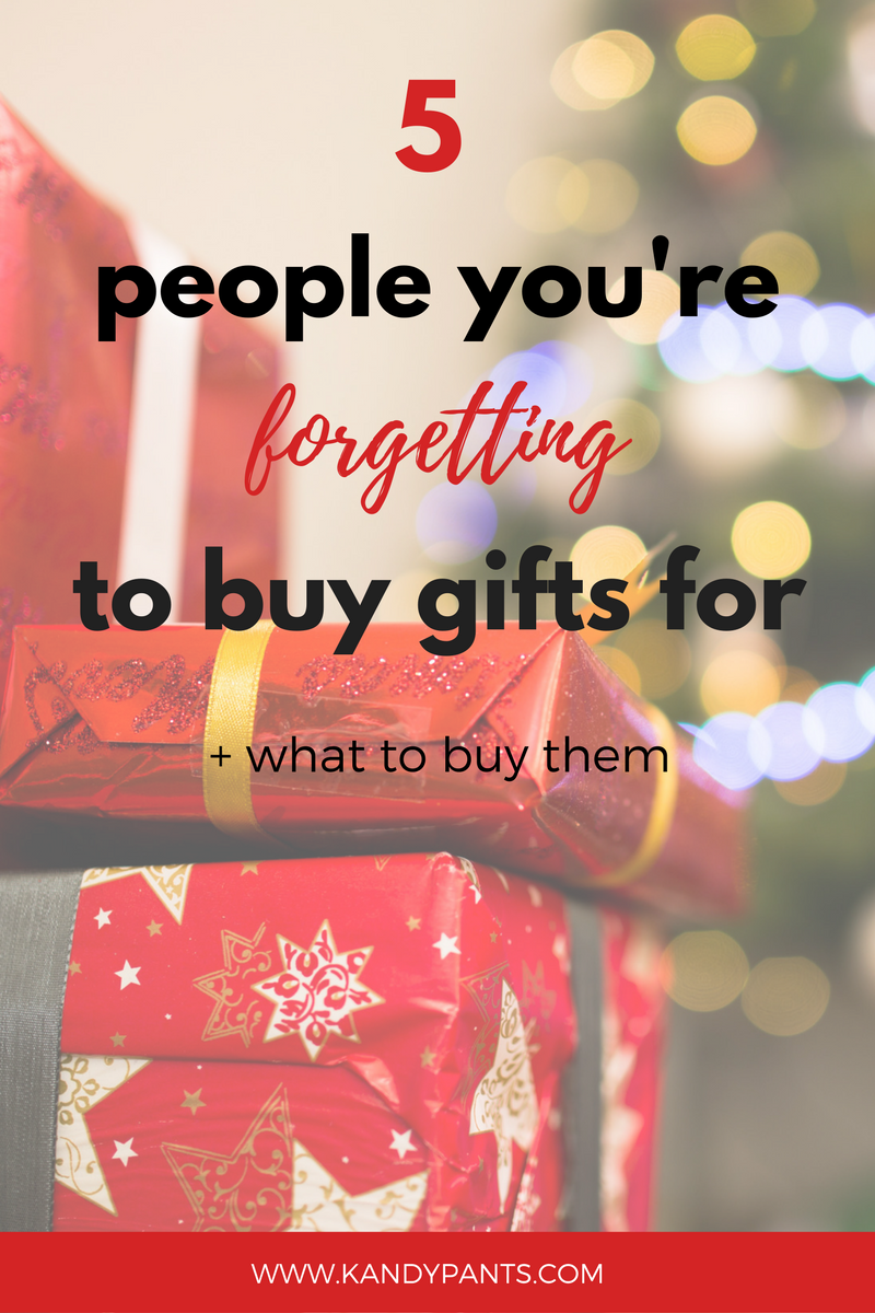 5 people you're forgetting to buy gifts for this Christmas