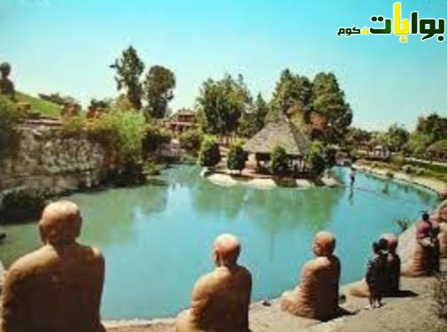 الحديقة اليابانية أحد أماكن الخروج في شم النسيم
