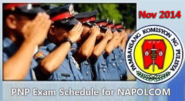 November 2014 PNP Exam Schedule for NAPOLCOM Online Application