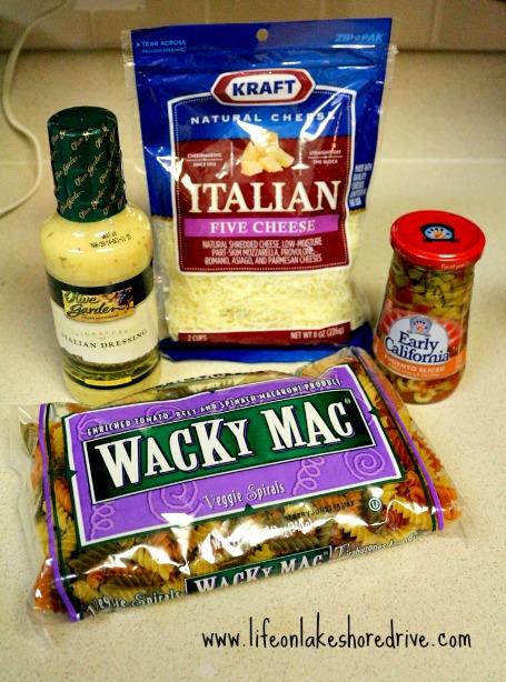 Quick and easy italian pasta salad life on lakeshore drive - Olive garden italian salad dressing recipe ...