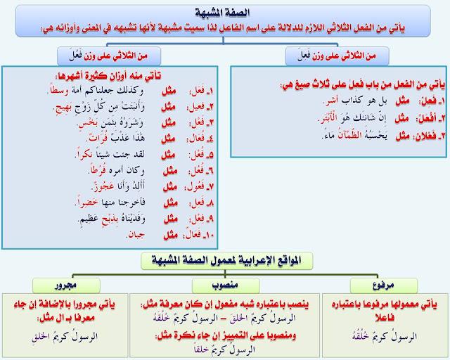 """انفراد.... كل قواعد اللغة العربية لطلاب """"ابتدائي - اعدادي - ثانوي"""" في صورة لوحات مبسطة مع الشرح والتدريبات 55"""