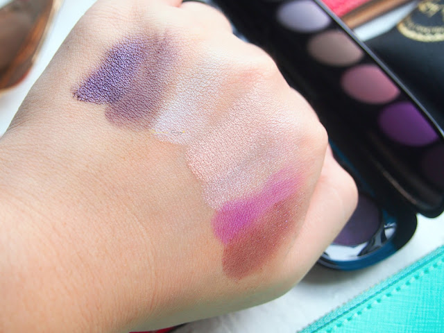 Marc Jacobs Beauty The Tease (202) Style Eye-Con No. 7 Plush Shadow Palette with seven eyeshadows in a purple theme.