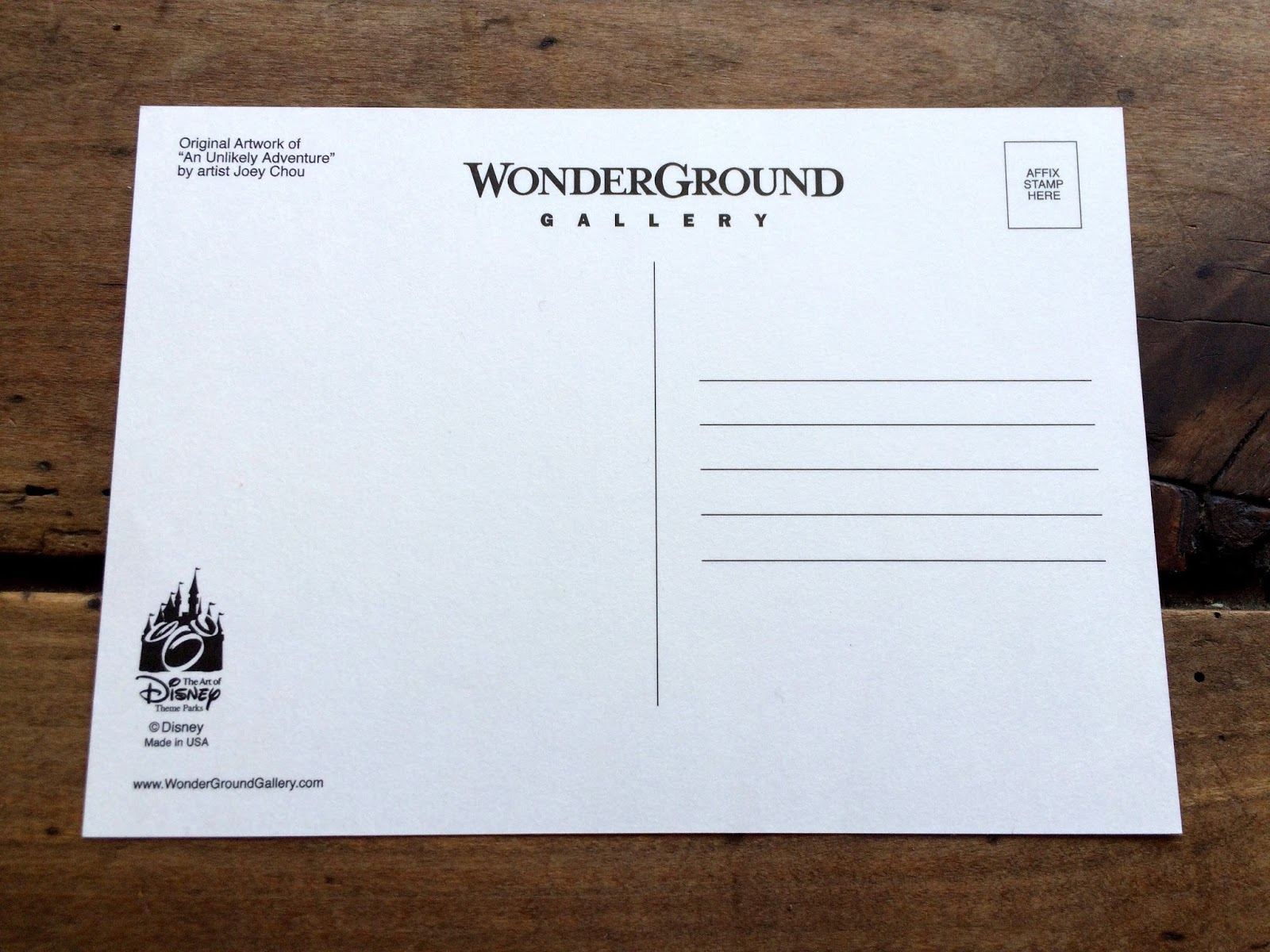 pixar up postcard