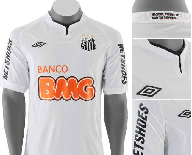 Camiseta oficial del Santos FC 2011 2012 - Nuevo Fútbol 05d1ec5c28e4b