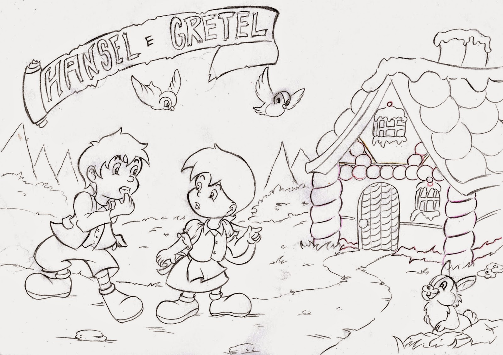 Hansel E Gretel Da Colorare
