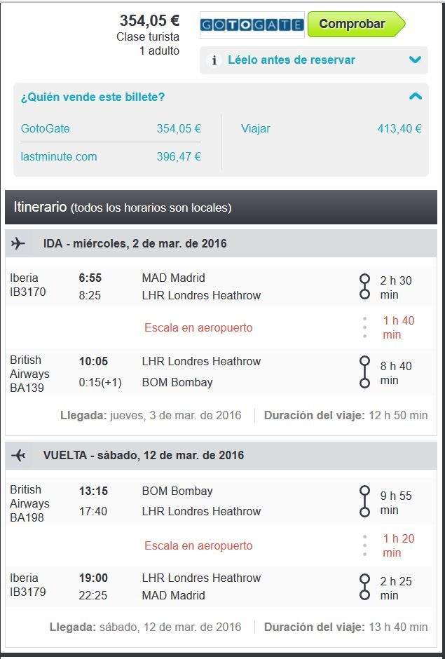India vuelo low cost