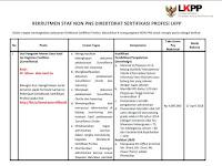 Buruan Daftar !! Rekrutmen Staf Non PNS LKPP, Take Home Pay 4 Juta/Bulan