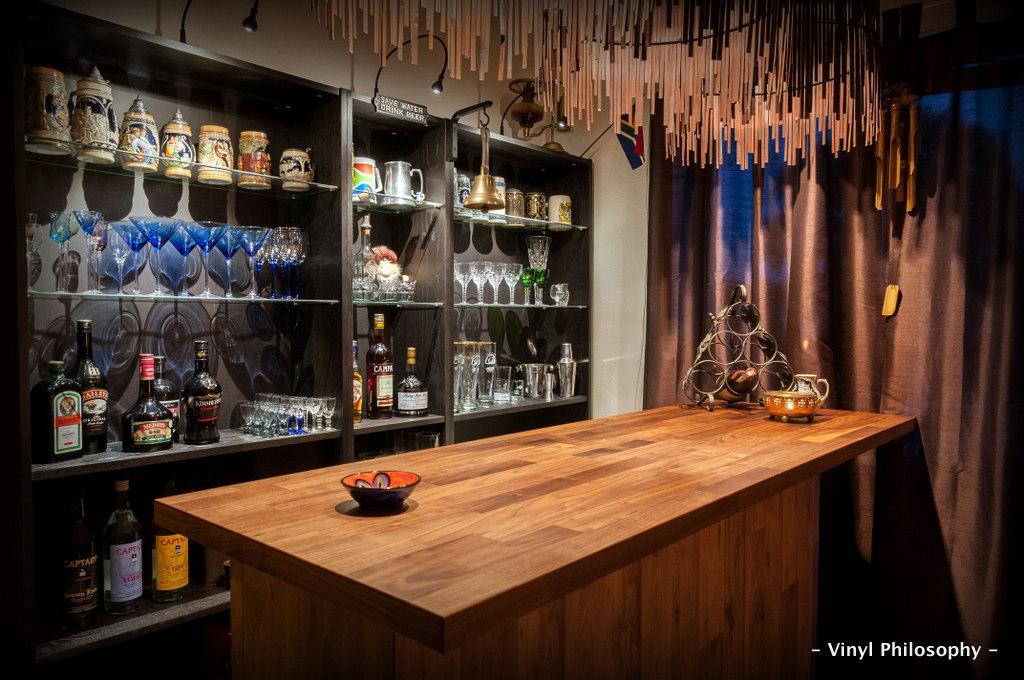 Vinyl Philosophy Diy Home Bar Built From Ikea Stuff