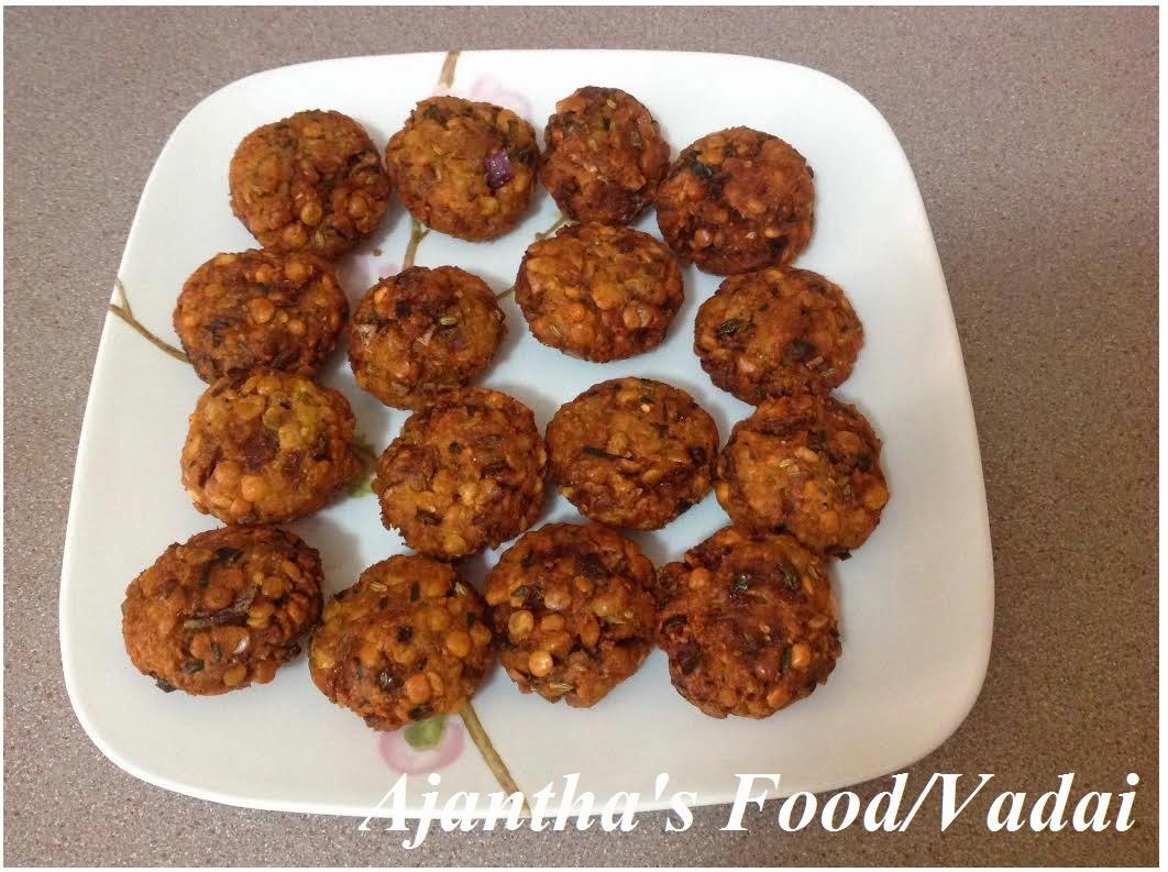 Ajantha's Food/Vadai (வடை)