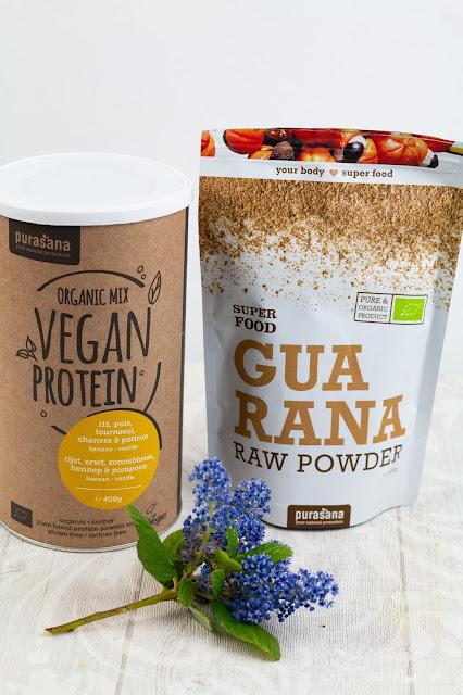 Protéines végétales et guarana de la marque Purasana