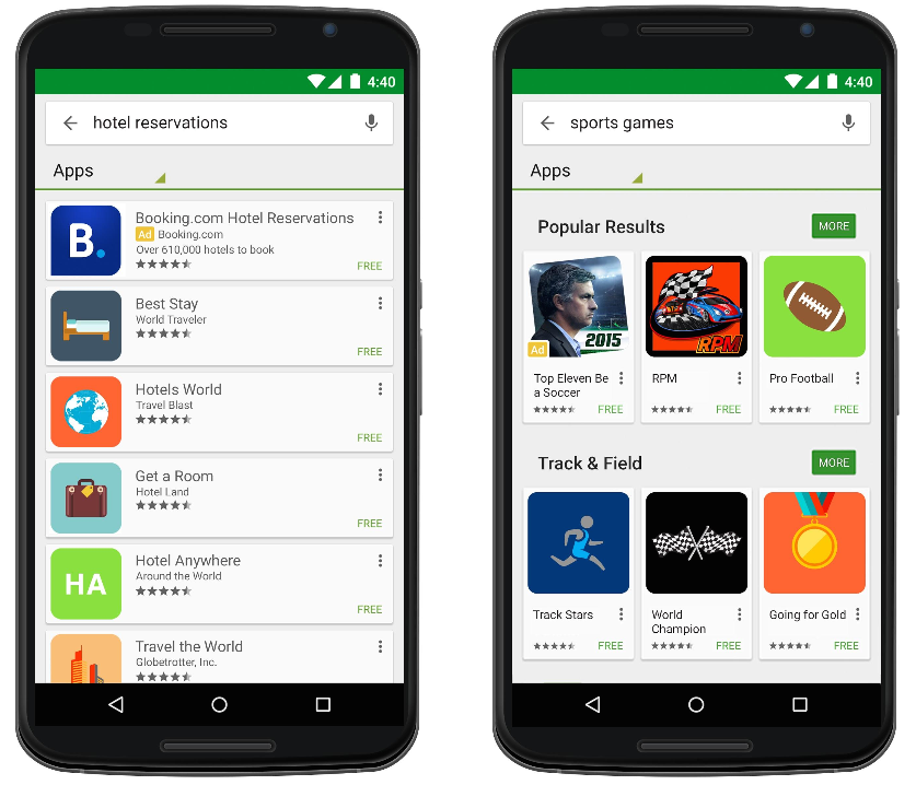 Inside adwords search ads on google play and new app Play store app