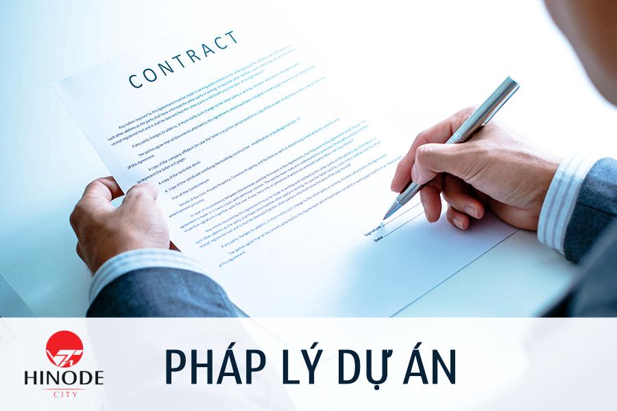 Giấy tờ pháp lý của dự án Hinode City 201 Minh Khai