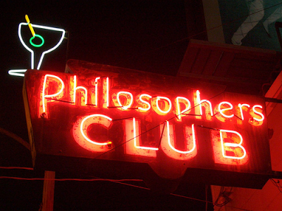 Philosophers Club. Neon sign including a martini glass Philosopher Song Live at the Hollywood Bowl. Other stories of Something to Say. Marchmatron.com