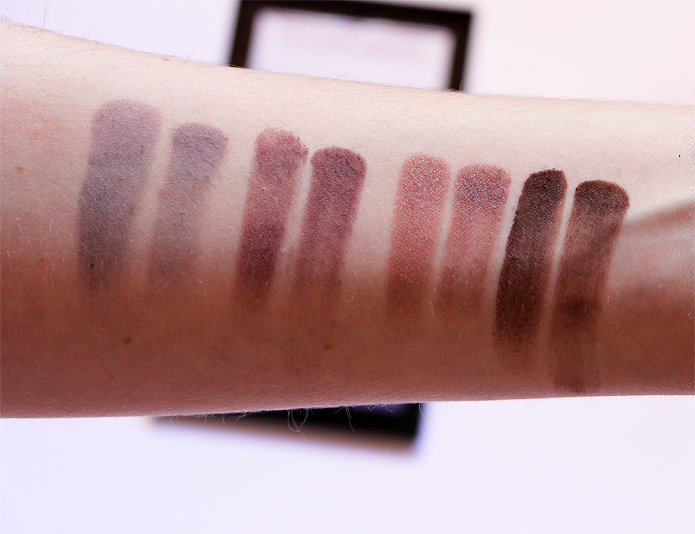 NYX Cosmetics Ultimate Cool Neutrals Shadow Palette swatches third row