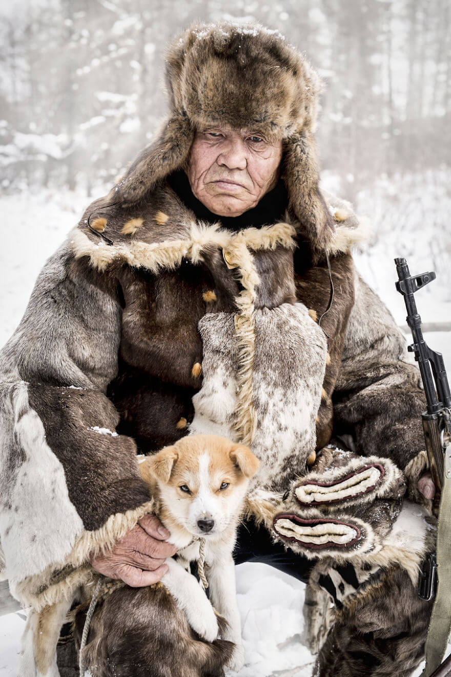 He Traveled 25000 Km In Siberia To Capture The Beauty Of Its Indigenous People With His Camera. The Pictures Are Breathtaking! - Evenki Elder