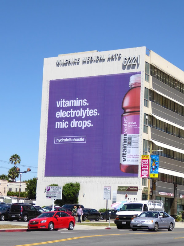 Giant Vitamin Water Hydrate the Hustle mic drops billboard