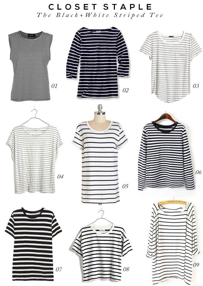 Closet Staple: The Black and White Striped Tee (via Bubby and Bean)