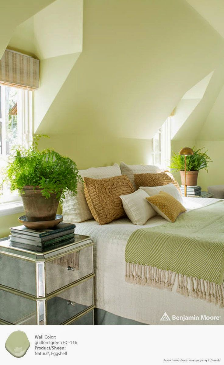 In This Bedroom Guilford Green Sets The Tone For A Serene Peaceful E To Wind Down At End Of Day Or Awake Gently Each Morning