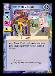 My Little Pony Tea With Discord Friends Forever CCG Card