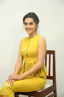 Taapsee Pannu looks mesmerizing in Yellow for her Telugu Movie Anando hma motion poster launch ~  Exclusive 003.JPG