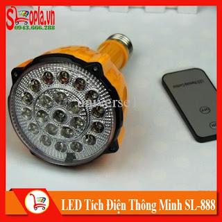 Đèn LED Tích Điện Thông Minh Điều Khiển Từ Xa SL-888