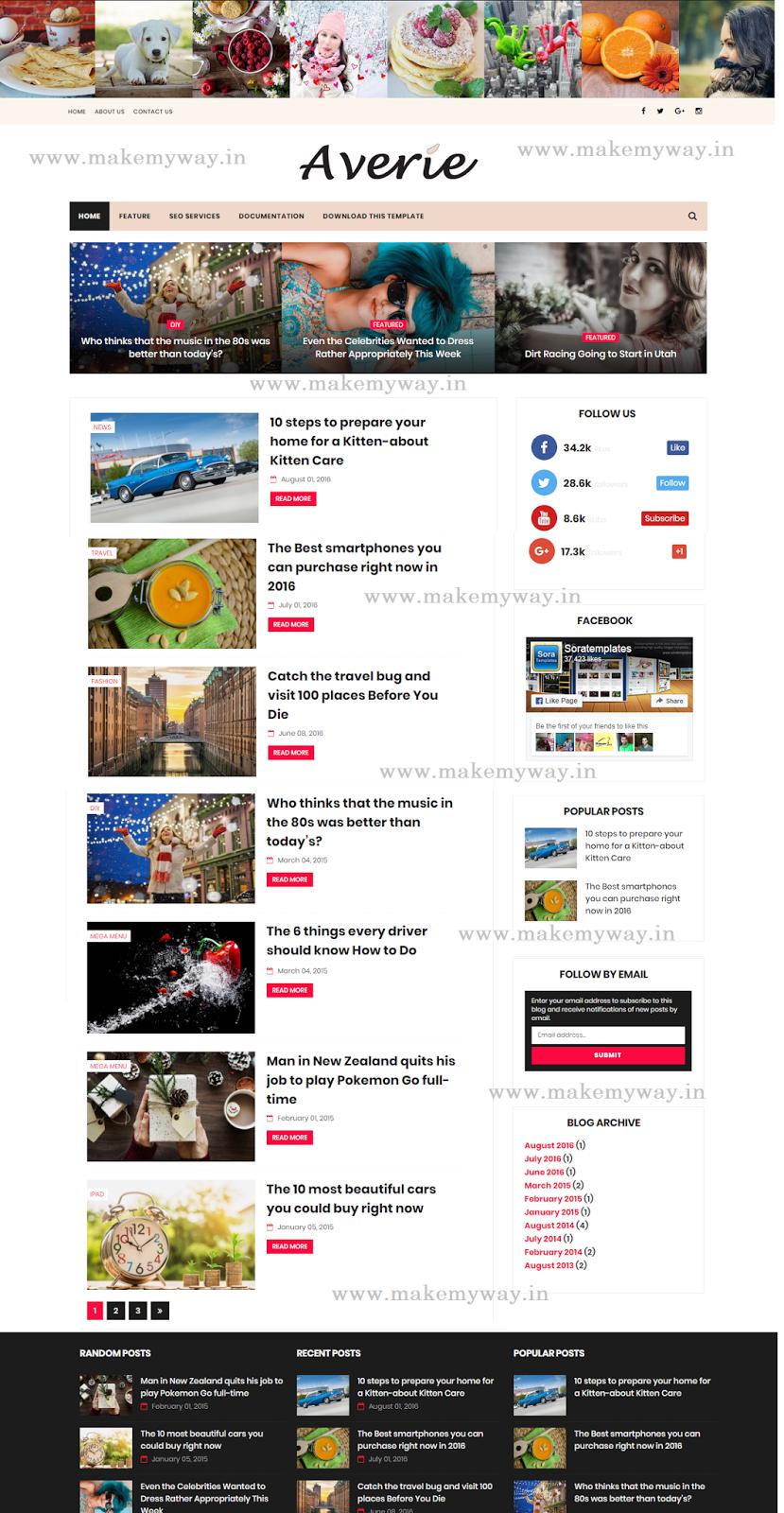 Enchanting Blogger Free Premium Templates Ensign - Professional ...