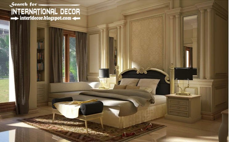 classic English style in the interior, English bedroom classic style and furniture