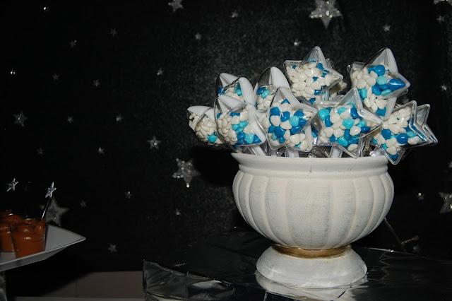 Festa tema estrela, mesa do bolo, decoração de festa