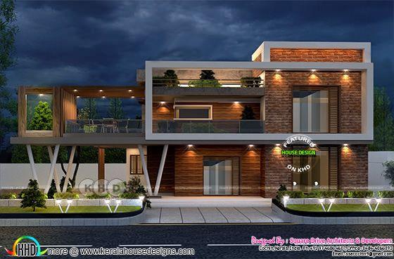 Stunning ultra modern box model house plan | Kerala home ...