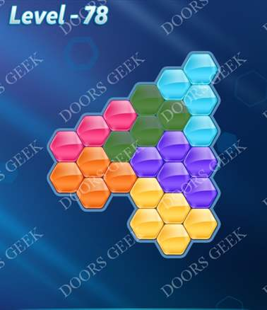 Block! Hexa Puzzle [6 Mania] Level 78 Solution, Cheats, Walkthrough for android, iphone, ipad, ipod