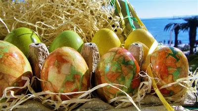 Kako napraviti mramorna jaja / How to make marbled easter eggs