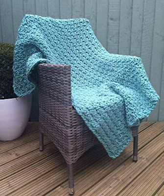Deluxe Handmade Crochet Blanket in Sage Green